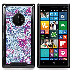 FOR Nokia Lumia 830 Queen Pattern - Hand Drawn Pink Purple Summer Fun - Doble capa de armadura de la cubierta del caso del protector -