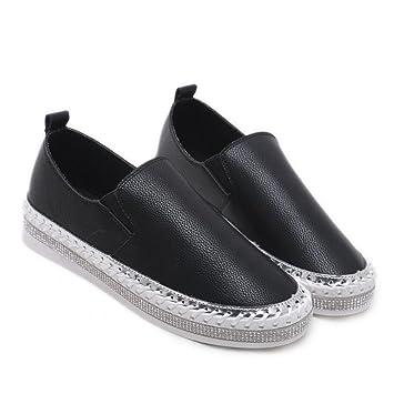 GAOLIXIA Señoras de Las Mujeres de la PU Zapatillas de Deporte de Verano Zapatos Planos Casuales
