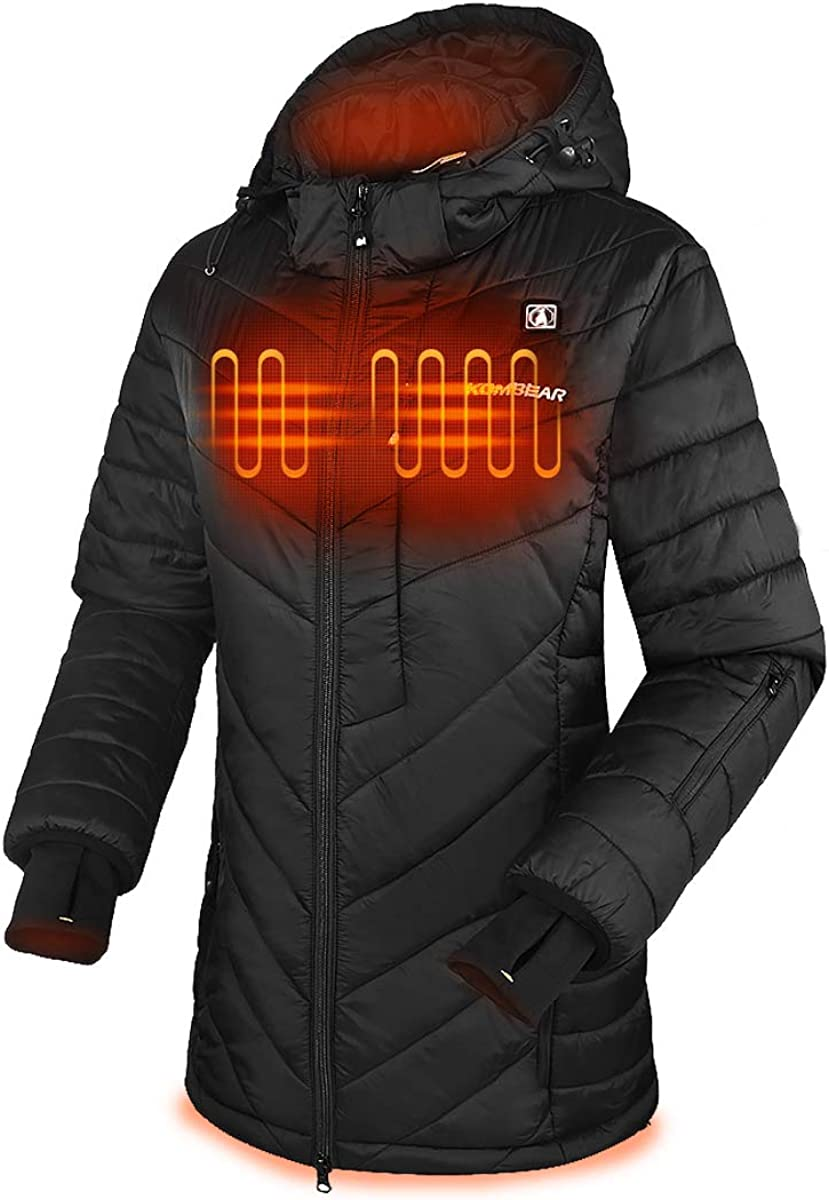 Amazon Com Climix Women S Heated Down Jacket W 7 4v Heated Jacket System Lightweight Water Resistant Clothing