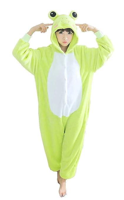 Unisex Kigurumi adulto Animal Cosplay disfraz pijama Onesies Pijamas, Rana, small