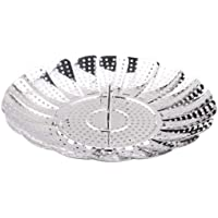 Good Living Stainless Steel Vegetable Steamer Basket For Pots and Pans, Adjustable from 5-1/2 inch to 9 inch diameter…