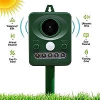 Ultrasonic Animal Repeller, Outdoor Cat Repellent Solar&Battery Powered, Waterproof Animal Repellent with PIR Motion…