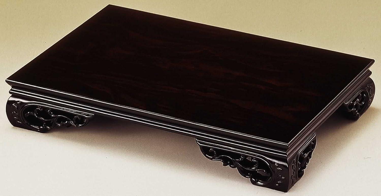 山家漆器店 木製 花台 スカシ平台 黒檀調 54cm 18号 B072MCGX68