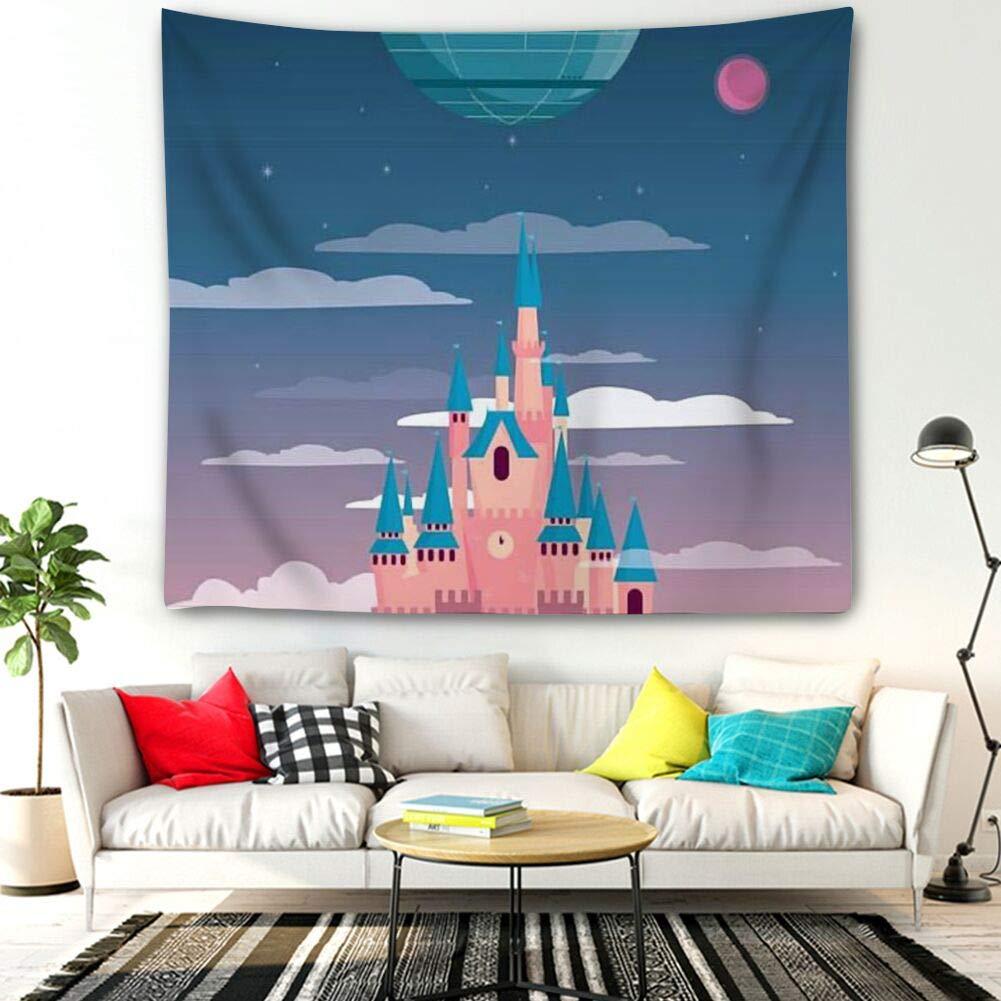 Tapestry Bohemia Hippie Wall Hanging Printed Designed Bedding Dorm Death Deathstar Disney Force han Solo Star Wars YODO (60inch51inch)