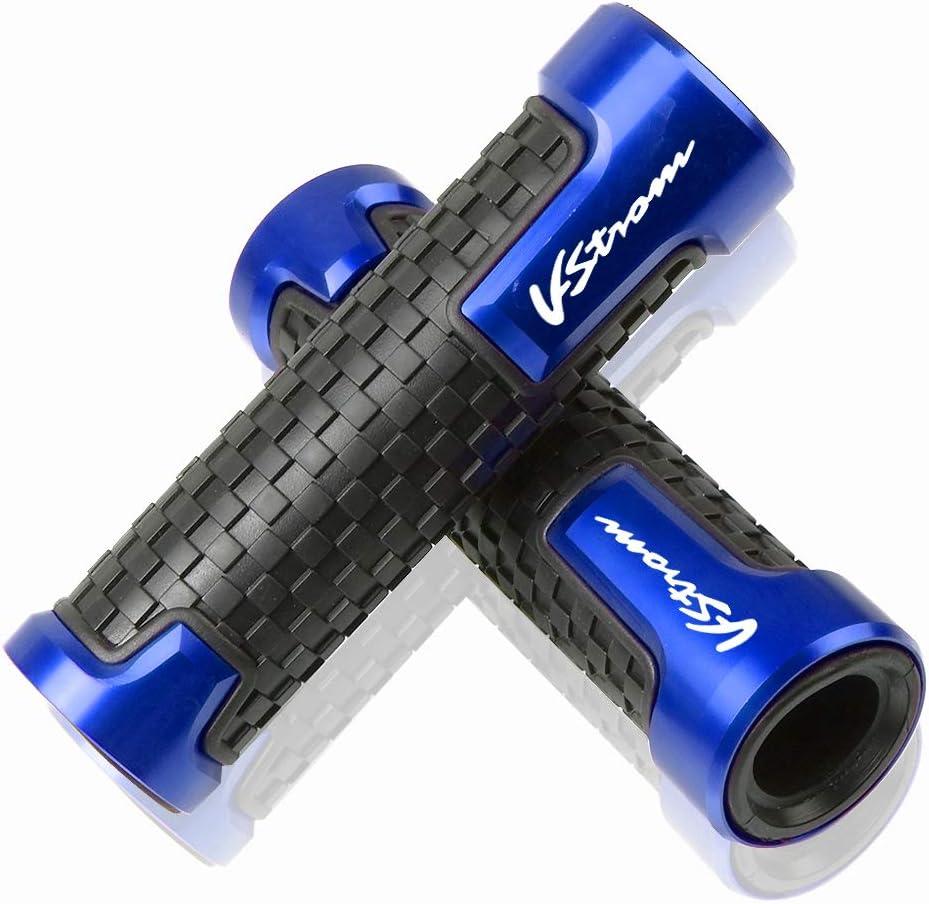 22mm 7 8 Motorrad Lenkergriffe Griff Griffgummis Für Suzuki V Strom V Strom 250 650 1000 1050 Xt Dl650 Dl1000 Blau Auto