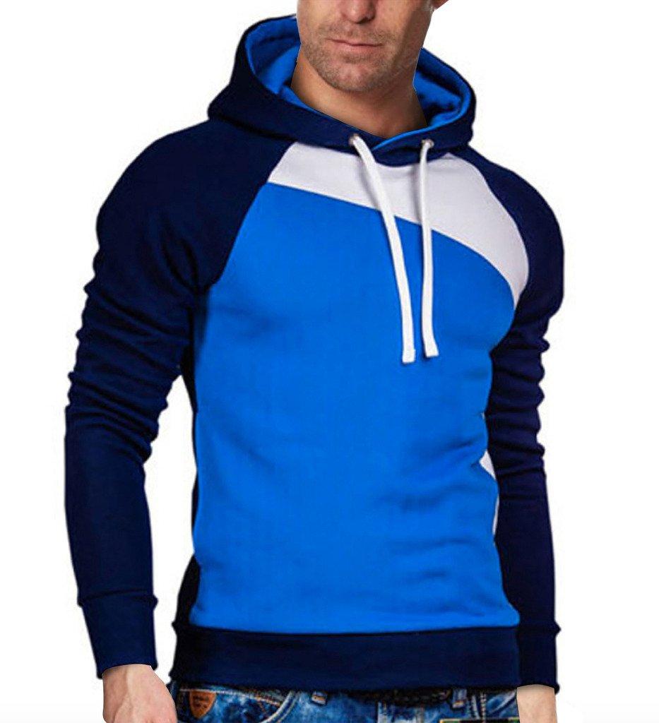 Elonglin Herren Kontrastreiche Farben Kapuzenshirt Sweatshirt Langarmshirt  mit Kapuze: Amazon.de: Bekleidung