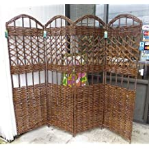 Nice Master Garden Products 4 Panel Willow Screen Divider, 72 By 60 Inch