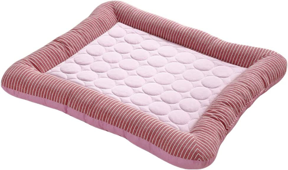 BinetGo Cooling Dog Bed Soft Crate Mat Ice Silk Cat Mat | Washable Summer Cooling Pet Mat | Soft Rectangle Bed Cushion for Small Medium Large Dog and Cat