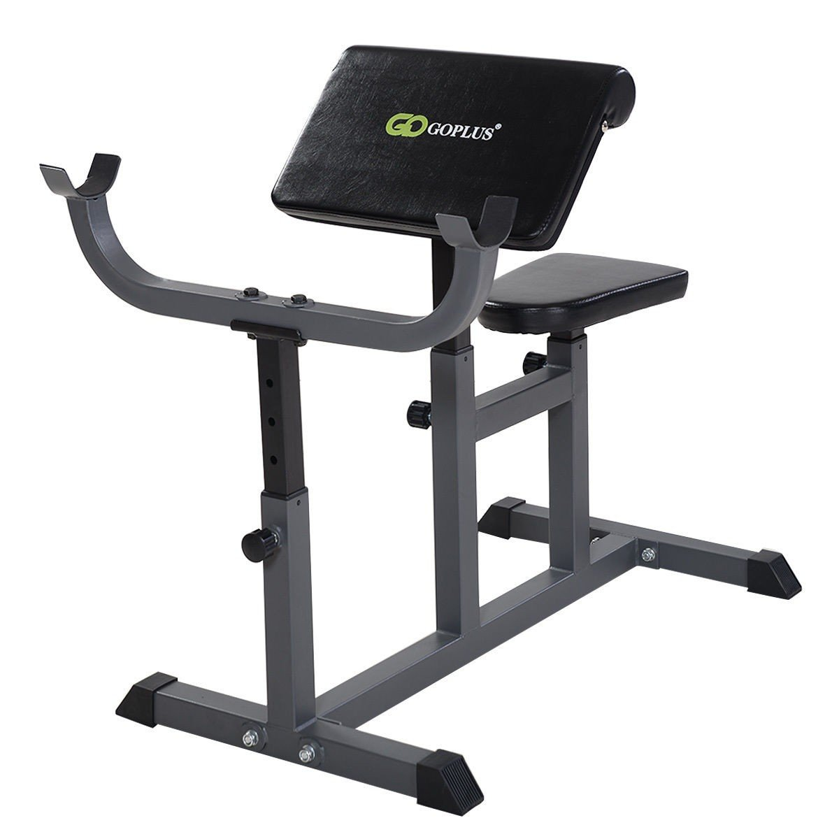 MyEasyShopping Adjustable Commercial Preacher Arm Curl Weight Bench Adjustable Commercial Preacher Arm Curl Weight Bench Dumbbell Biceps Seat