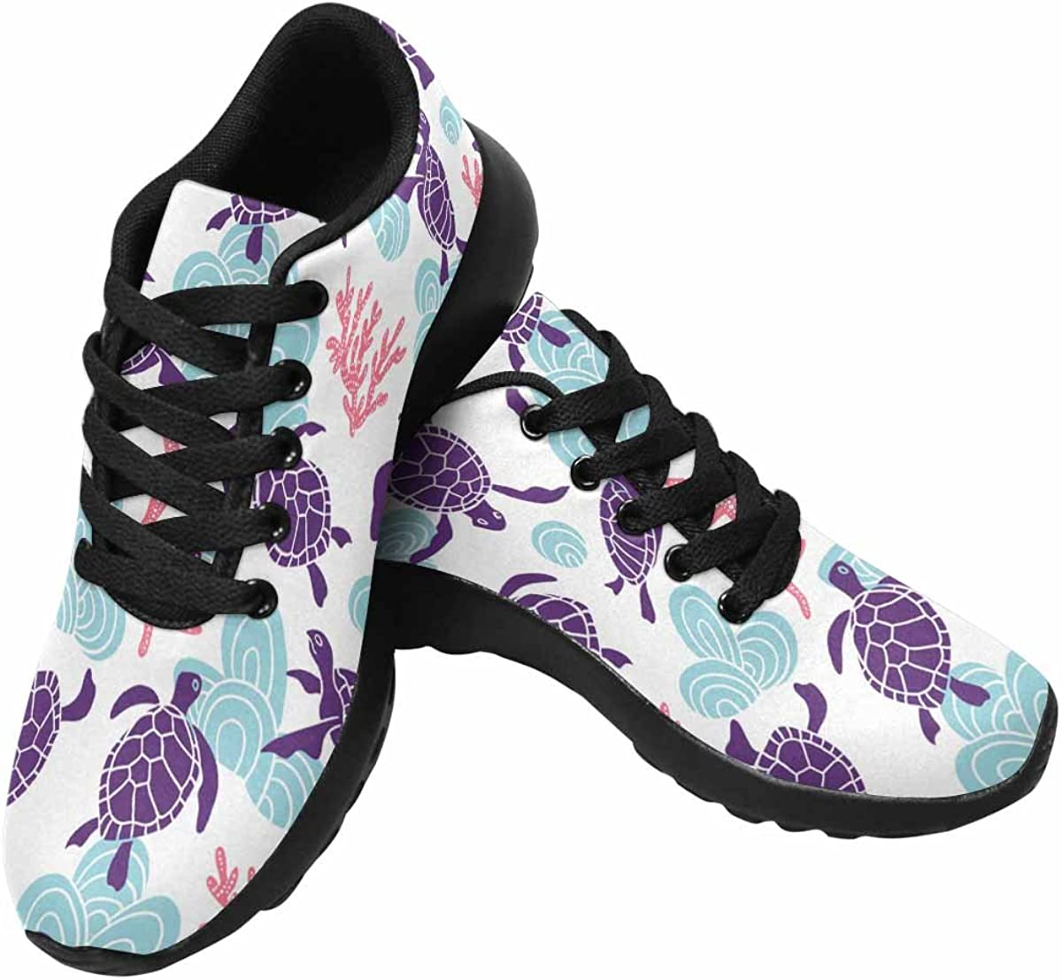 Womens Running Shoes Cute Sea Turtle Pattern Print on Outdoor Running Sneakers