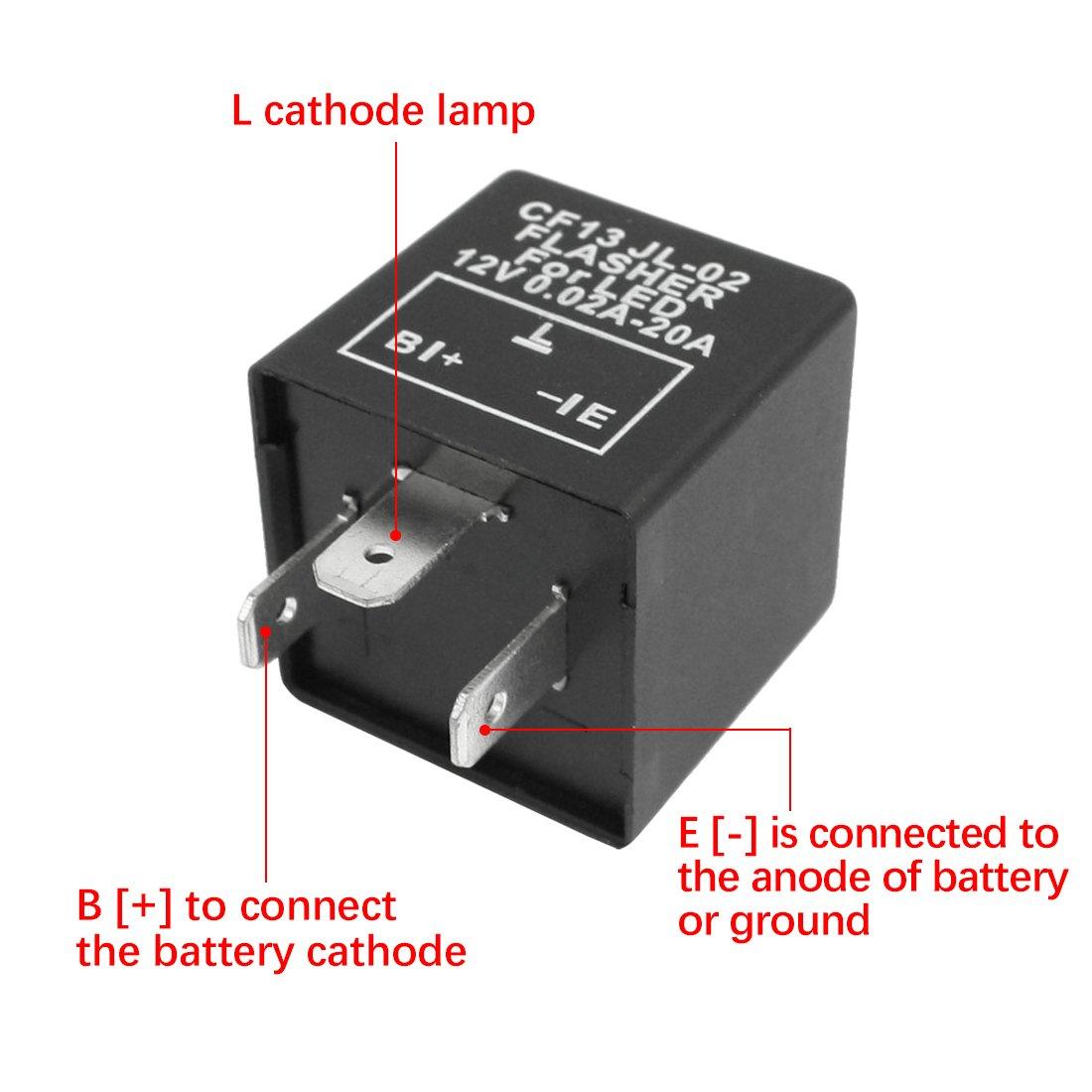 uxcell Car Vehicle 440 Pin CF1440 SPDT Flasher Relay for LED Turn Blinker Light  440V DC 40.440 240A