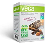 Vega Protein & Snack Bar, Chocolate Caramel, 4 Count