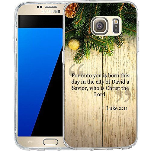 S7 Case Christmas Design Luke 2:11, LAACO Scratch Resistant TPU Gel Rubber Soft Skin Silicone Protective Case Cover for Samsung Galaxy S7
