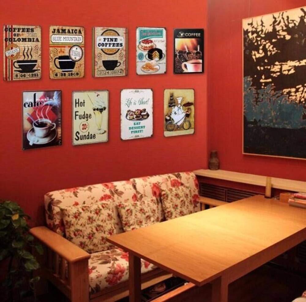 LHCY Tractor De Coche Vintage Craft Cartel De Chapa Retro Metal Pintura Cartel Bar Pub Signos Placa Etiqueta De Arte De Pared Decoración del Hogar-Xj-519_20X30_CM: Amazon.es: Hogar