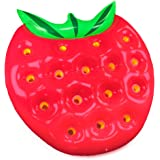 5-Foot Jumbo Juicy Strawberry Swimming Pool Float, Inflatable Water Raft by Sol Coastal