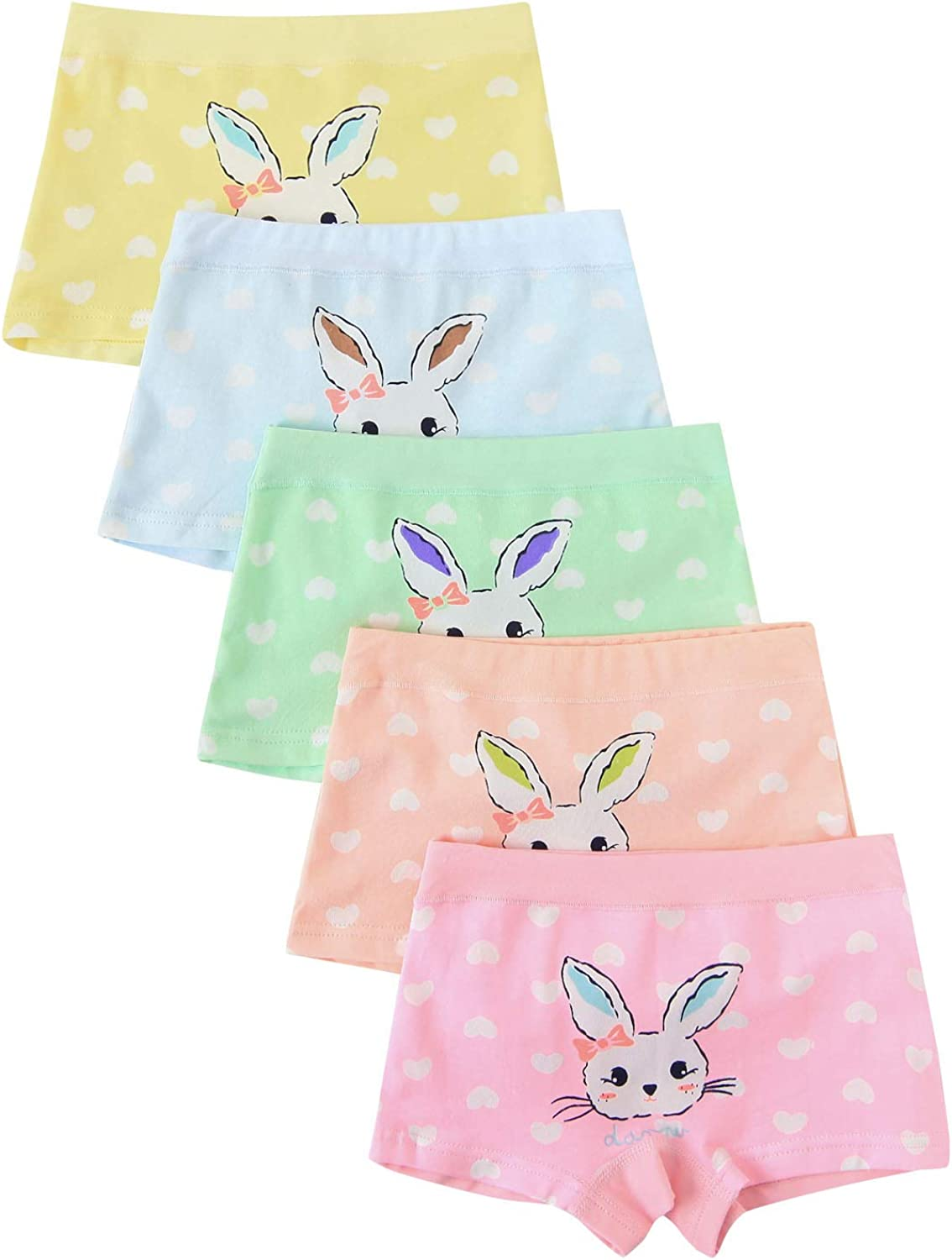 Allmeingeld Baby Girls Rabbit Knickers Bunny Boy Short Animals Colorful Hipster Bunny 5-7 years
