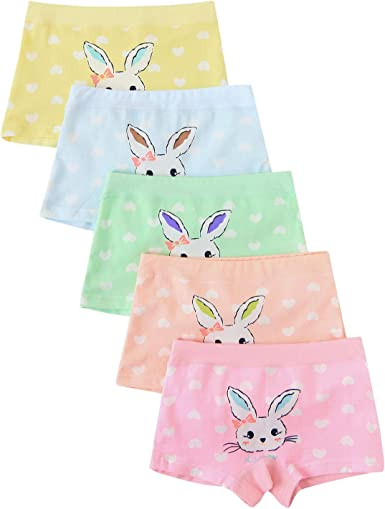 Allmeingeld M/ädchen Hase Unterhosen Rosa Unterw/äsche Set 5 Packung f/ür 1-13 Jahre