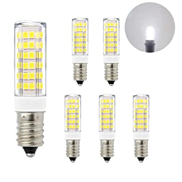 ENUOTEK Lamparas Bombillas Pequeñas SES Casquillo E14 de LED 7W 600Lm Luz Fria 6000K AC220-240V de Bajo Consumo Equivalente a Bombilla Halogena ...