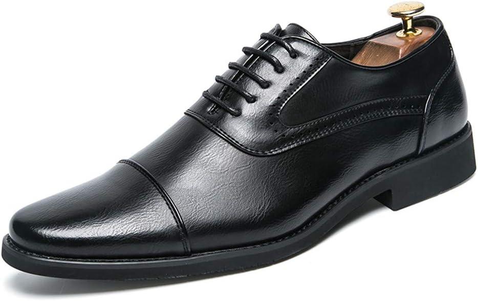 Color : Marron, Taille : 38 EU Jingkeke Chaussures de c/ér/émonie pour Hommes pour Hommes accrocheur
