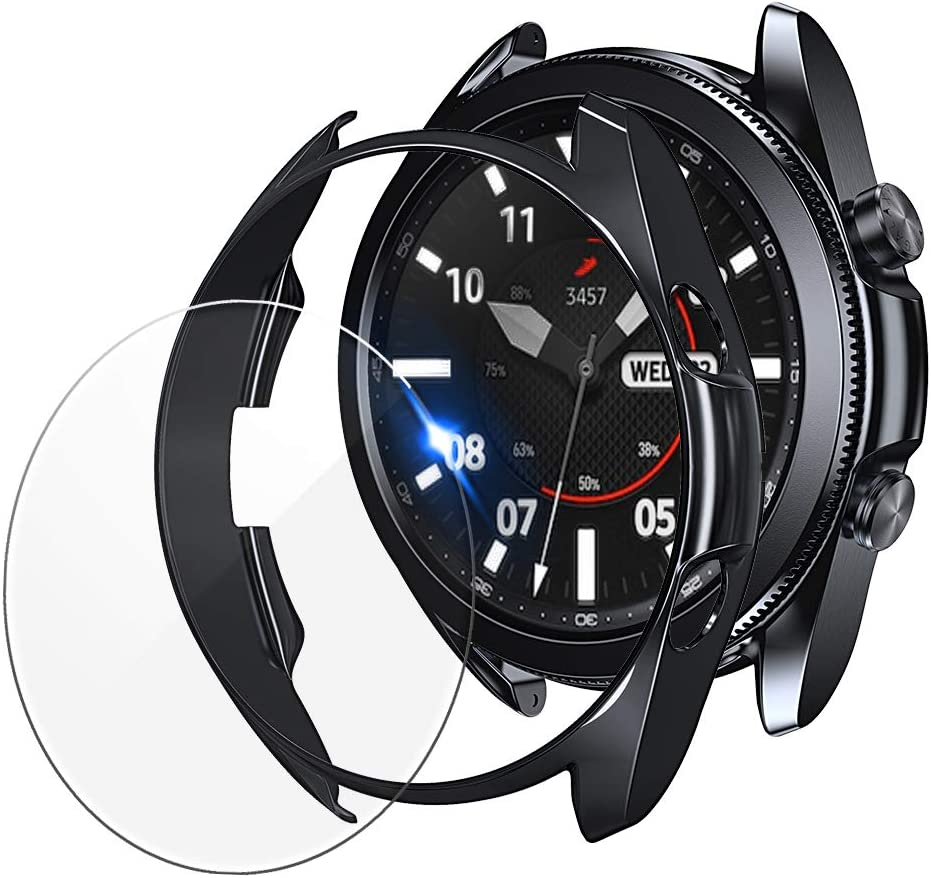 2 protector de pantalla + 2 funda para Galaxy Watch3-45mm