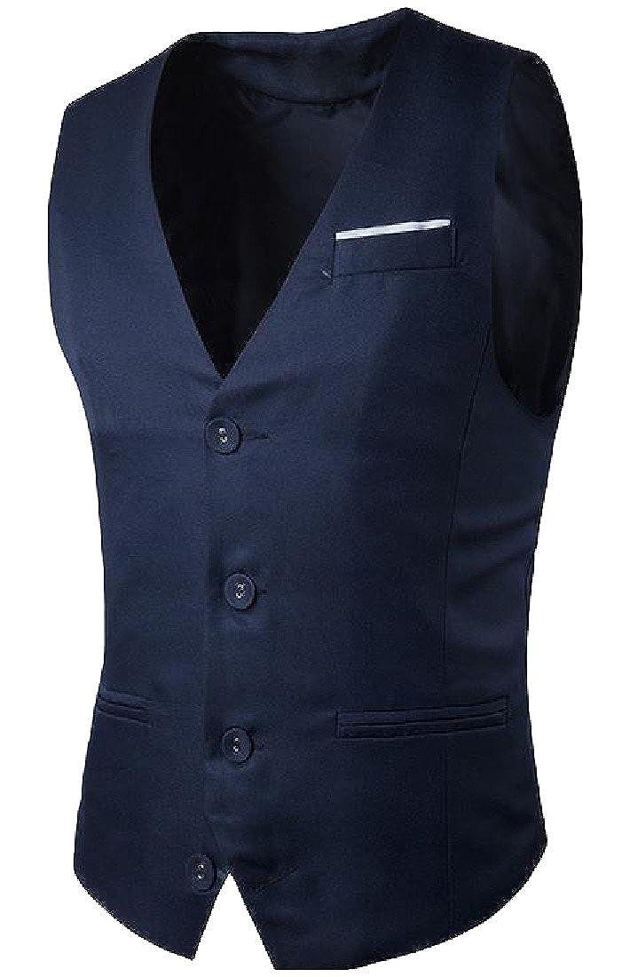Winme Men's Fall Winter Single Breasted Regular Fit Jacket Vest