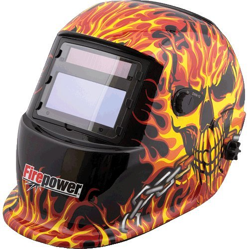 (Adf Welding Helmet - Skull & Fire-2pack)