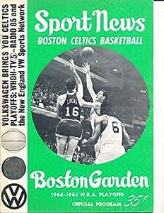 1964 Boston Celtics vs Los Angeles Lakers NBA Finals Program