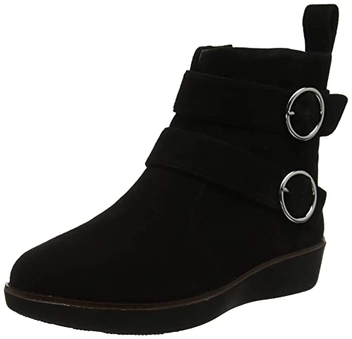 77dda2859cff Fitflop Women s Oona Buckle Ankle Boots  Amazon.co.uk  Shoes   Bags
