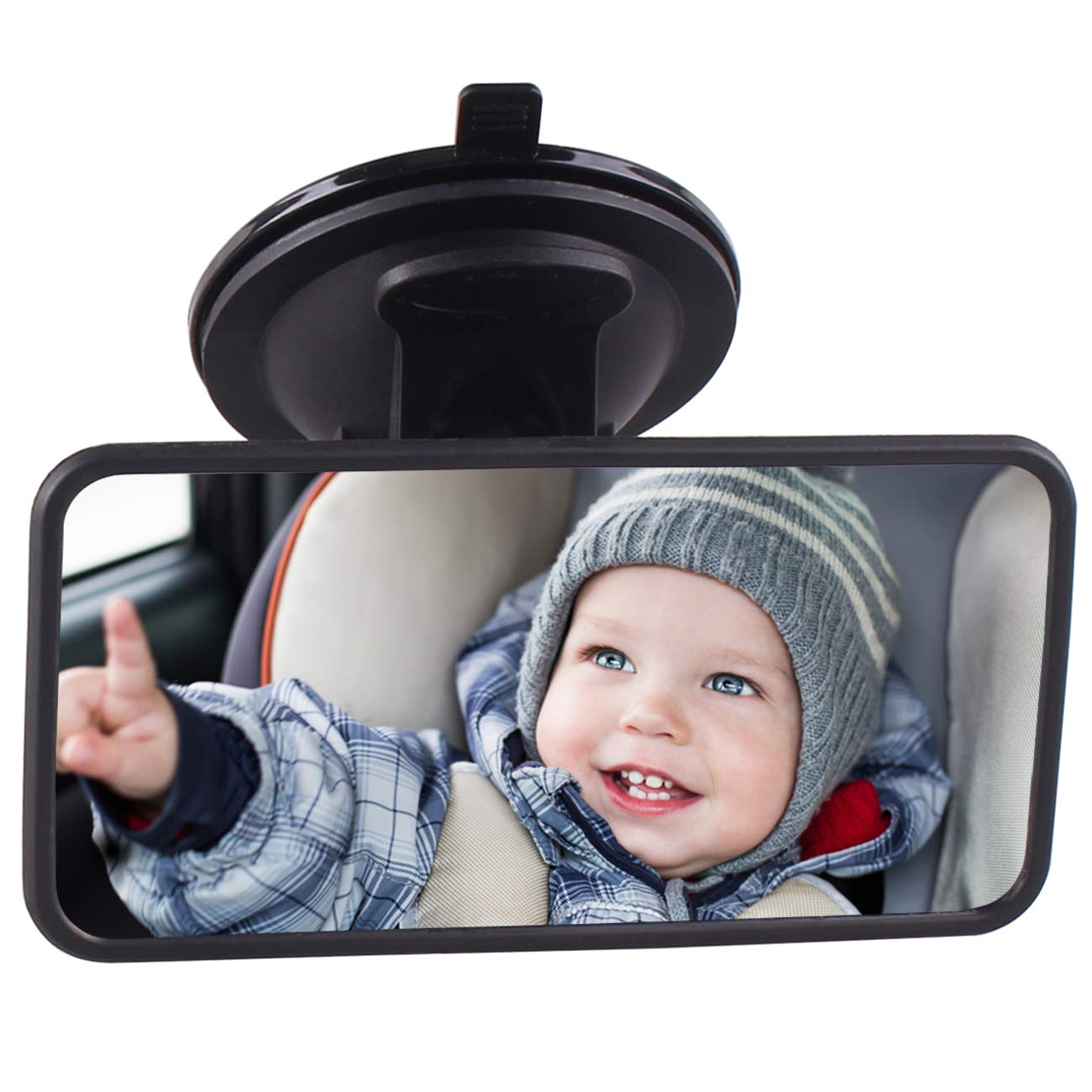 Baby Car Mirror, Baby Mirror for Car Seat Rear Facing Mirrors for Infant, Carseat Back Seat Backseat Child Safety Rear view Rearview Mirror by Heart Horse