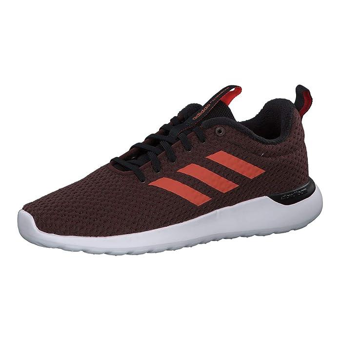adidas Lite Racer CLN Schuhe Damen Herren Unisex rot mit rotem Streifen