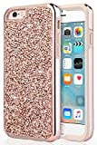 UrbanDrama iPhone 6 Case, iPhone 6S Case, Luxury Glitter Sparkly Diamond High Impact Shockproof Hybrid Hard PC, TPU Anti Slip Bumper Protective Case for iPhone 6, iPhone 6S 4.7 inches, Rose Gold