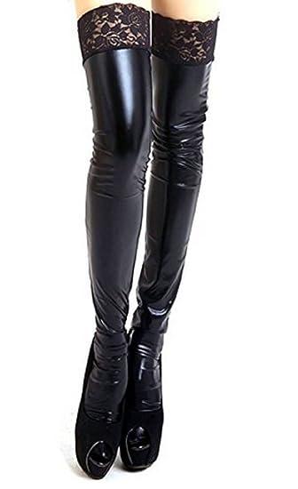Underwear & Sleepwears Free Shipping ~ Latex Stockings Rubber Heart-shape Leg Fashion Wear Stockings