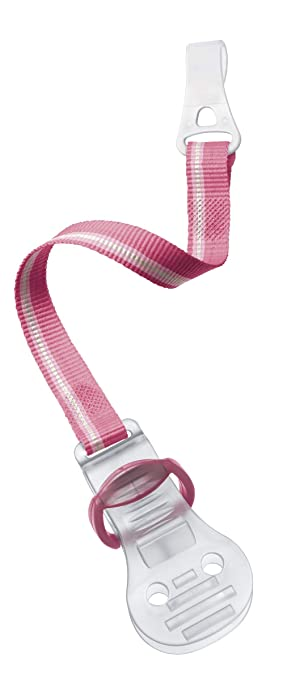 Amazon.com: Philips AVENT Clip para chupete, color rosa: Baby