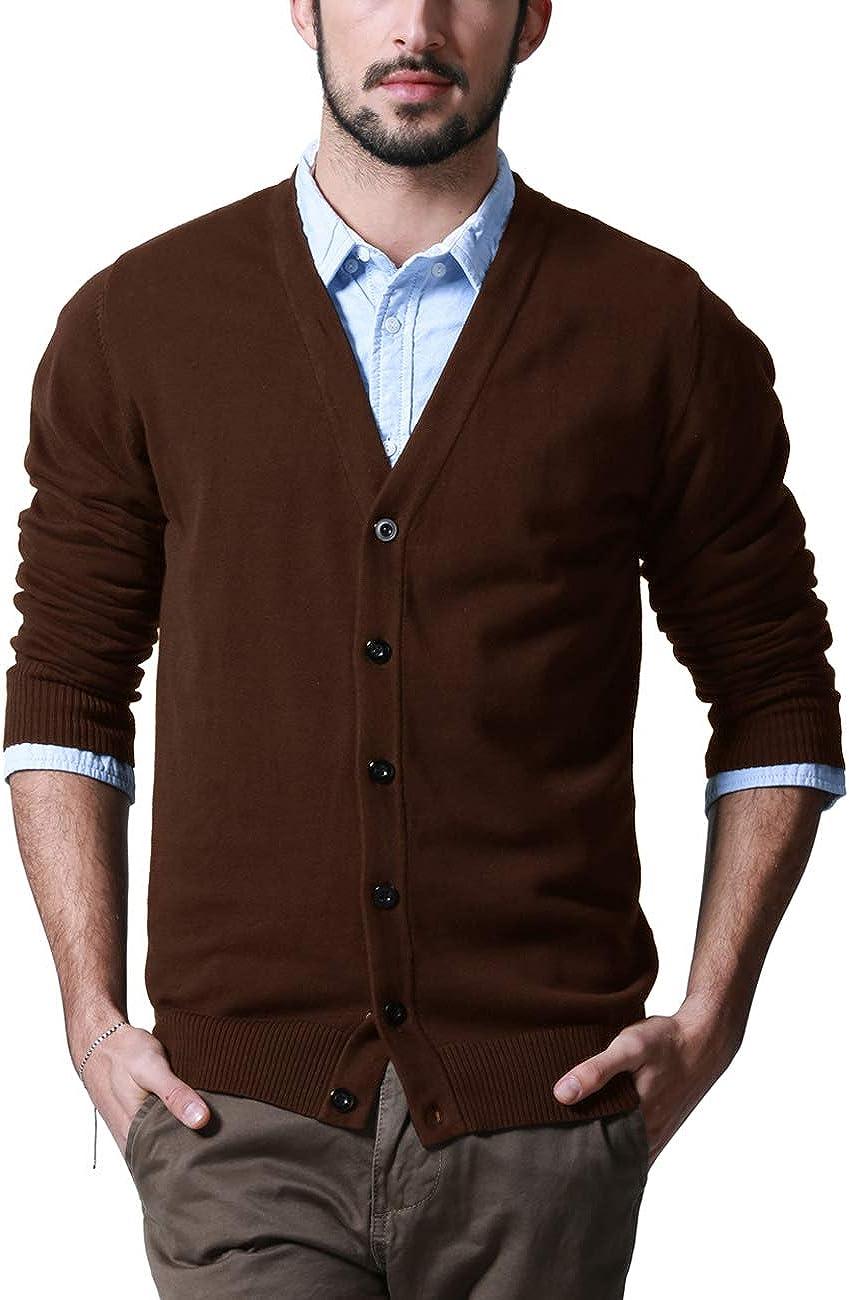 Match Men's K|G Series Shawl Collar Cardigan Sweater at  Men's Clothing store