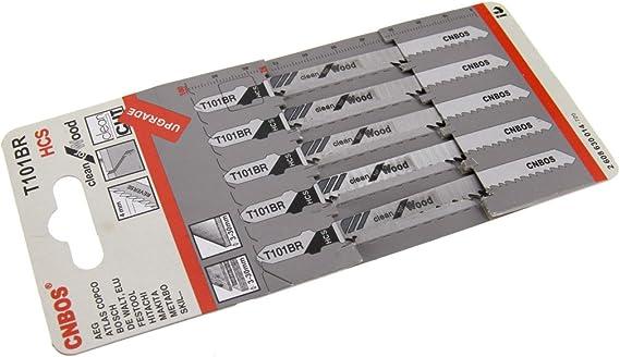5 x Bosch brand T101BR Jigsaw blades down cut worktop wood cutting 2608630014