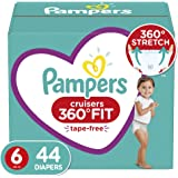 Pampers Diapers Size 6 - Cruisers 360˚ Fit Disposable Baby Diapers with Stretchy Waistband, 44 Count Super Pack