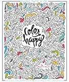 Color Happy: An Adult Coloring Book of Removable Wall Art Prints