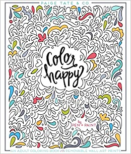 Amazon.com: Color Happy: An Adult Coloring Book of Removable Wall ...
