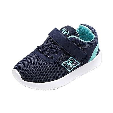 OHQ Zapatillas Deportivas Velcro Casual para NiñOs Y NiñAs Moda Azul Negro Zapatos De Deporte Al Aire Libre para Correr Zapatillas De Gimnasia: Amazon.es: ...