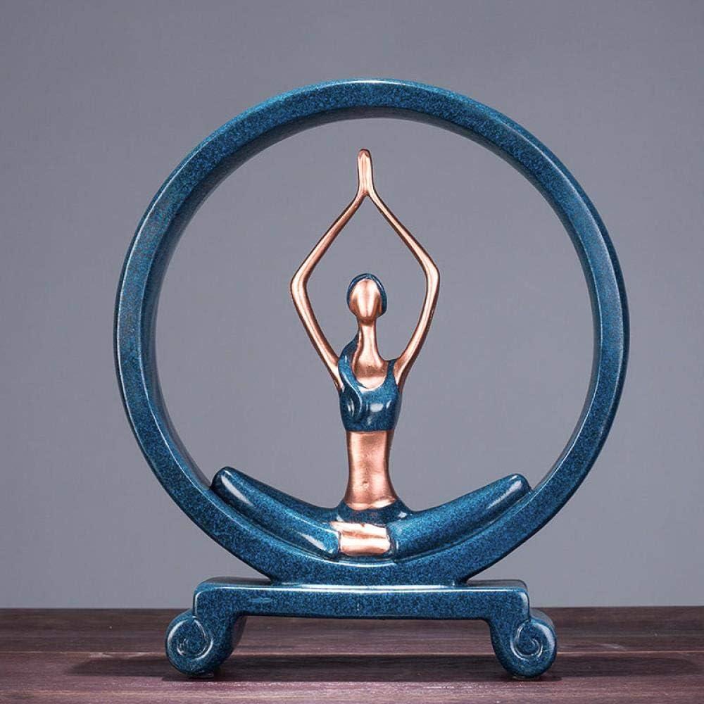 Yoga Mueble de televisi/ón ZTTDDP Escultura decoraci/ón de Resina Sala de Estar Manualidades decoraci/ón Creativa 1 Accesorios para el hogar