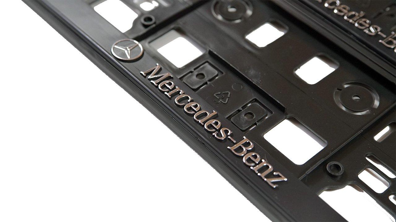 Set 2 x PREMIUM Kennzeichenhalter Kennzeichenhalterung Nummernschildhalter NEU