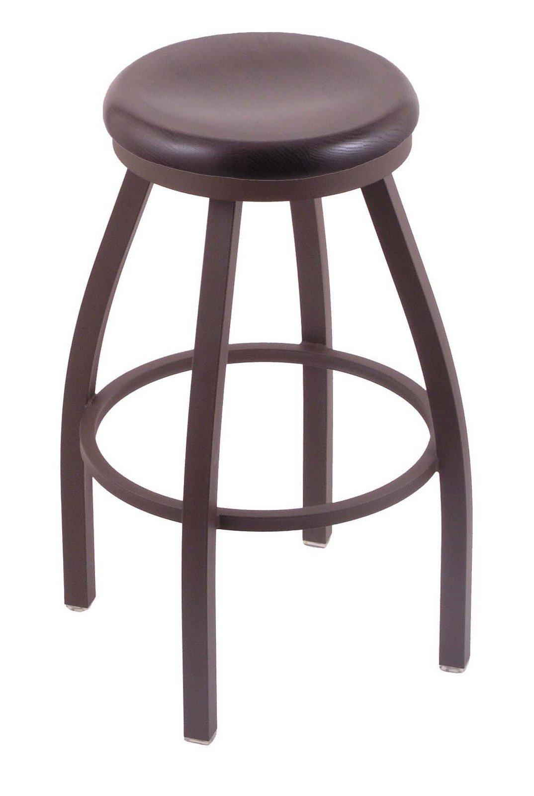 Holland Bar Stool Co. 802 Misha 30'' Bar Stool with Bronze Finish and Swivel Seat, Dark Cherry Oak by Holland Bar Stool Co.