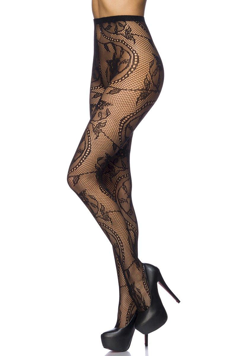 6 pieza Negras Dibujos Florales Rayas Corazones Costura Pantimedias Semi Opacas Rejillas negro ANDIBEIQI Mujer Pantimedias Semi Medias