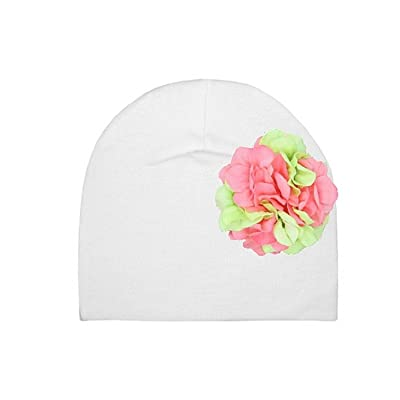 Cotton Hats with Pink Green Large Geraniums