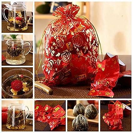 16 Handmade Blooming Jasmine Flower Hi Tea Flowering Green Tea Ball Home Wedding Favor