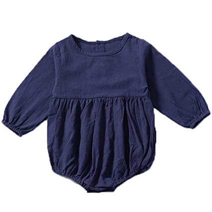 Amazon.com: Summer Cotton Toddler Infant Baby Boys Girls Solid Fold ...