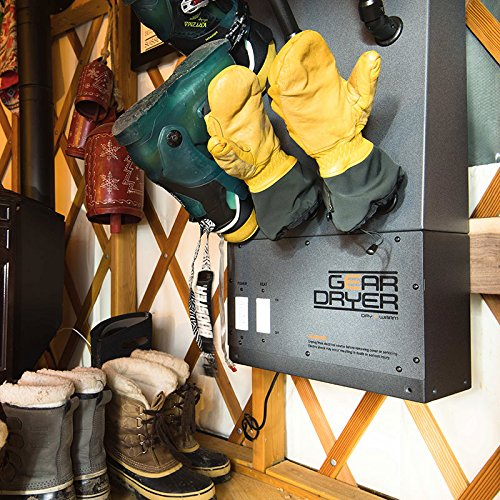 GearDryer Wall Mount 12 Boot and Glove Dryer | 6 Pair Boot, Shoe, and Glove Dryer | Dryer and Warmer for Ski Boots, Work Boots, Athletics, and More by GEAR DRYER DRY = WARM (Image #7)