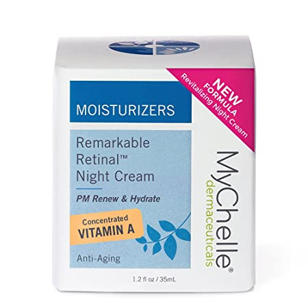 MyChelle Remarkable Retinal Night Cream, Nutrient-Rich Moisturizer with Vitamin A for All Skin Types, 1.2 fl oz