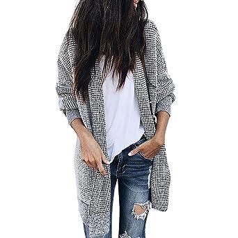 4b5d3cc979 Damen Mantel AMUSTER Damen Herbst Winterjacke Freizeit Outwear Parka  Cardigan Slim Mantel Lange Mantel Revers Parka