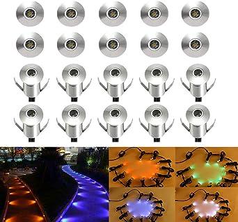 6//20x Bodeneinbauleuchte LED Bodenleuchte Außen Terrasse Garten Beleuchtung Spot